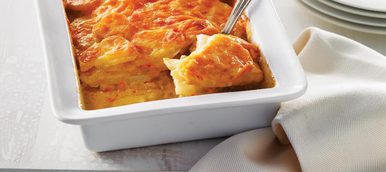 Gratin De Pommes De Terre Au Fromage Et A La Creme Recette