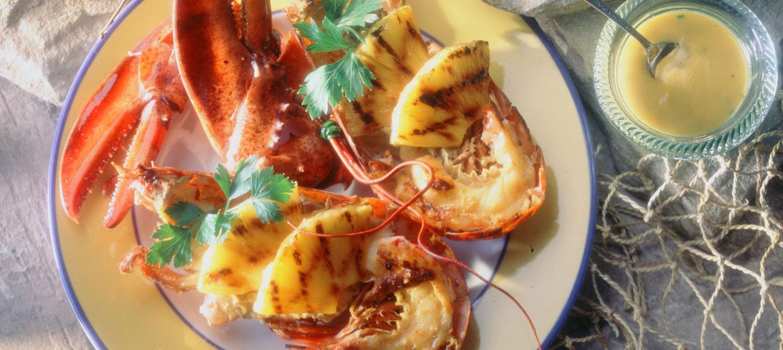 Homards grill s la dijonnaise recette plaisirs laitiers - Accompagnement homard grille ...