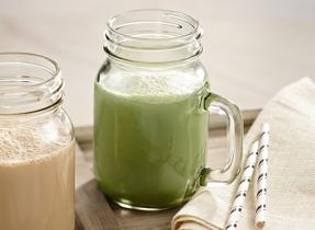 Lait frappé au thé vert et au gingembre