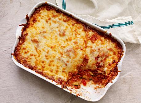Lasagne aux quatre fromages et aux courgettes Recette