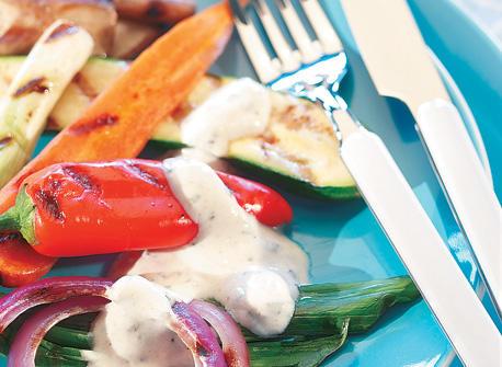 Légumes grillés et sauce aux herbes Recette