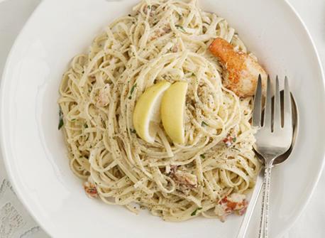 Linguines, sauce crémeuse au citron et au homard Recette