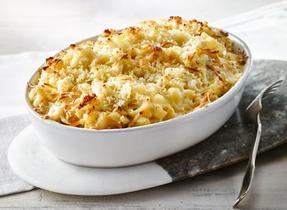 Macaroni au fromage aux pommes et à la bière