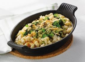 Macaroni au fromage et aux légumes croustillants