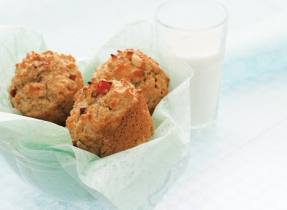 Muffins à l'avoine, aux pommes et à l'érable