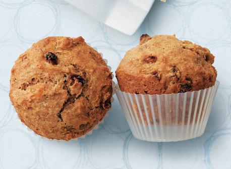 Muffins au son et aux raisins Recette