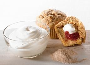 Muffins au son et carottes farcis au fromage à la crème