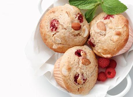 Muffins aux amandes et aux framboises  Recette