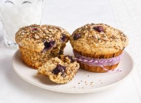 Muffins aux bleuets et aux quatre graines