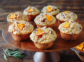 Muffins matin à l'avoine et à l'orange