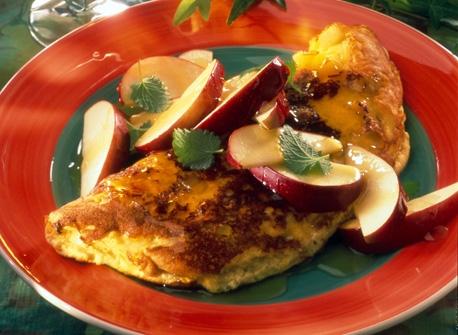 Omelette sucrée aux pommes Recette