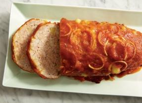 Pain de viande au fromage brick et aux pommes