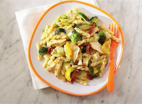 P tes la mozzarella et au poulet style alfredo recette plaisirs laitiers - Pate a la mozzarella ...
