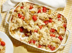 Pâtes aux tomates et au chou-fleur rôtis