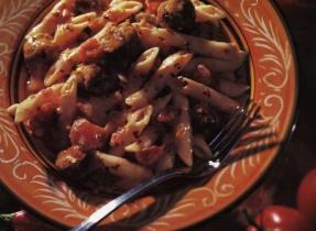 Penne à la saucisse italienne