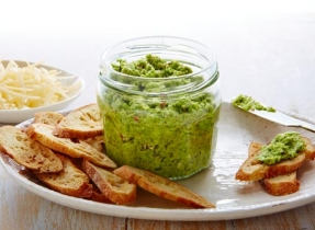 Pesto au Gouda et aux asperges