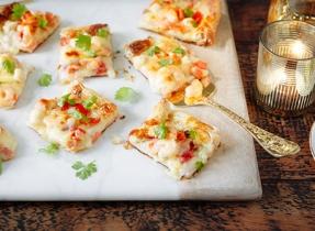 Pizza festive aux fruits de mer
