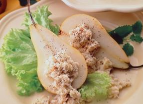Poire au fromage bleu Ermite et au crabe