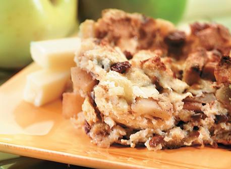 Pouding au pain, aux pommes et à la cannelle Recette