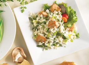 Risotto au poulet et aux asperges facile comme tout