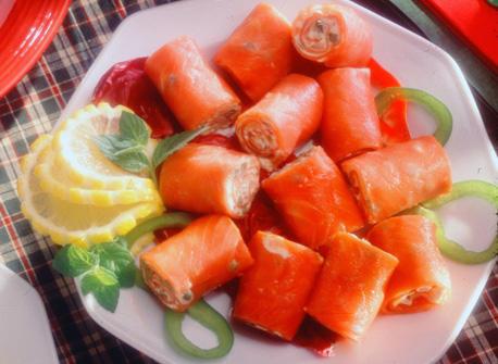 Roulades de saumon fumé Recette