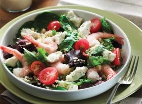 Salade de couscous aux crevettes et au boursin®