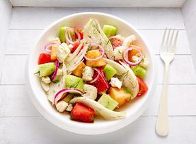 Salade de fenouil et de melon à la Feta