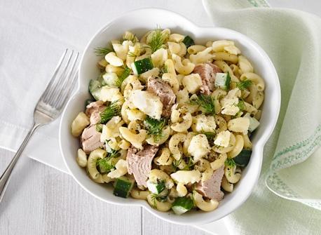 Salade de macaroni au thon et au Cheddar Recette