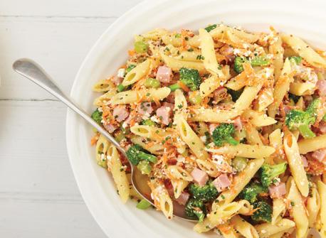 Salade de p tes la ricotta et au jambon recette plaisirs laitiers - Salade de pates jambon ...