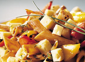 Salade de pâtes au Havarti et aux légumes grillés