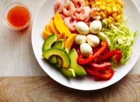 Salade tropicale de l'hiver au Bocconcini
