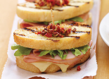 Sandwich au fromage fondant au jambon Recette