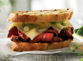 Sandwich de bifteck à la japonaise