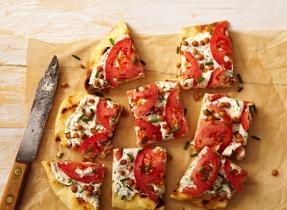 Sandwich ouvert aux tomates et à la Ricotta