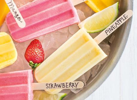 Sucettes glacées aux fruits Recette