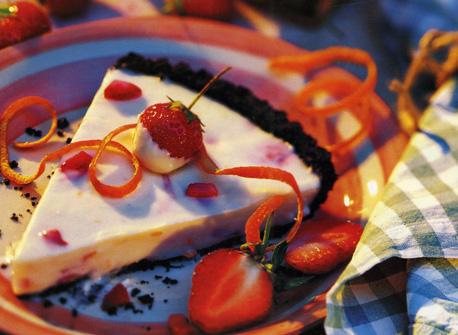 Tarte aux fraises et au chocolat blanc recette plaisirs laitiers - Recette tarte aux chocolat ...