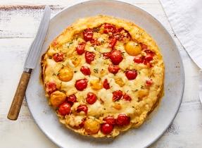 Tarte tartin au Provolone et aux tomates