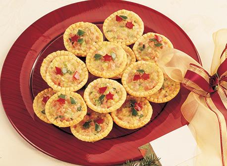 Tartelettes au fromage Suisse canadien et jambon Recette