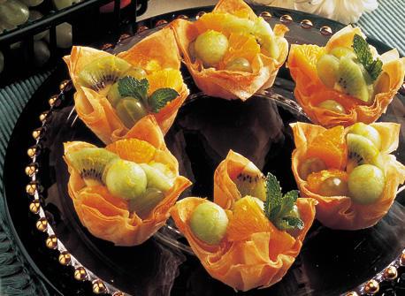 Tartelettes de pâte phyllo aux fruits recette | Plaisirs ...