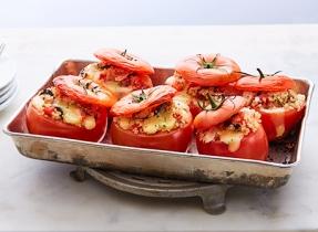 Tomates au four farcies au thon