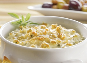 Trempette tiède à l'artichaut et au fromage parmesan