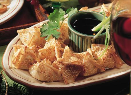 Wontons aux crevettes et sauce asiatique Recette